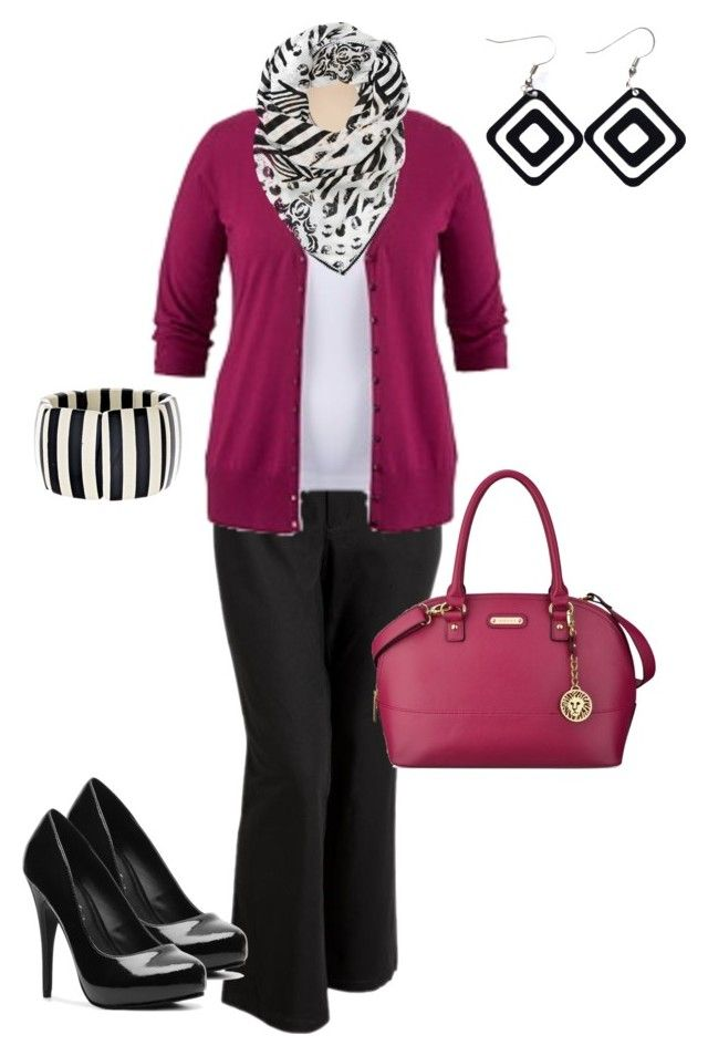 """""""plus size outfit updated with different shoes"""" by penny-martin ❤ liked on Polyvore featuring Old Navy, Anne Klein, Witchery, Fornash and Michael Antonio"""