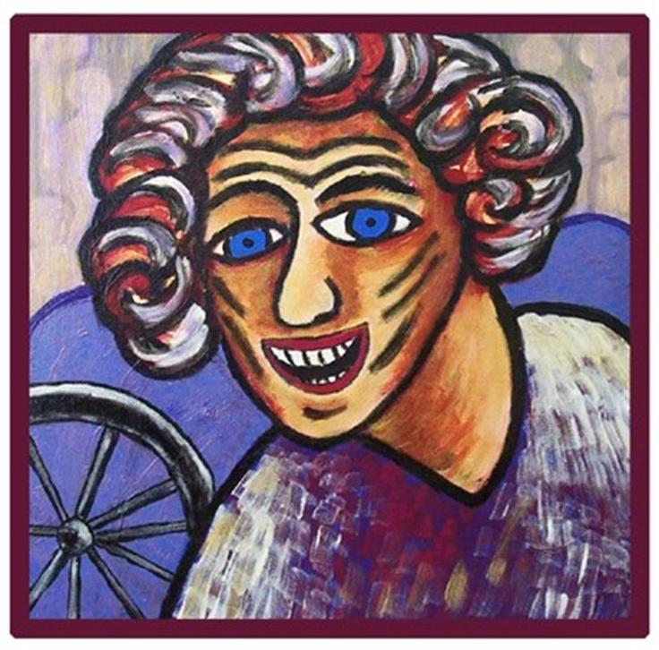 """Flying Margie - Art Work """"The Happy Bike Man"""" by Margie Thomas"""