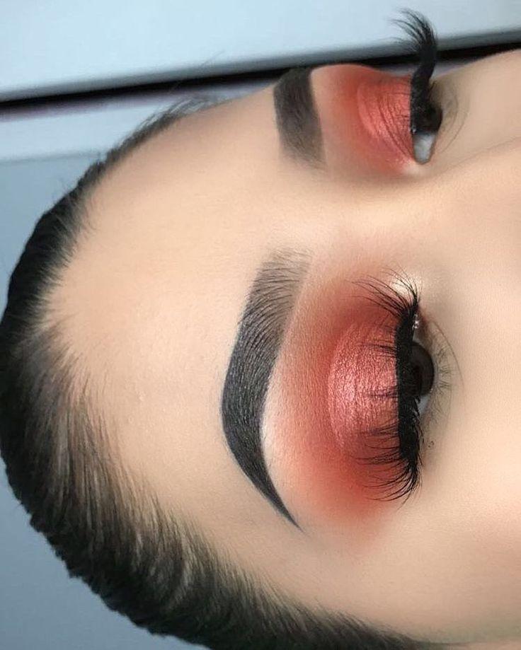 Pink and Brown Eye Make up