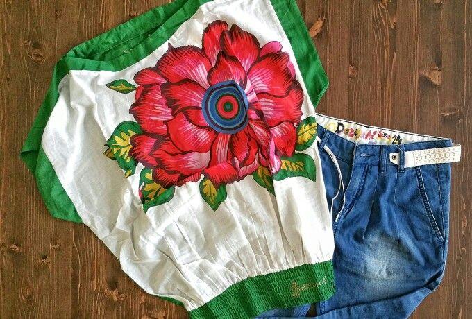 Desigual style - #desigual #donna #saldi #sale #estate #summer #summertime #italy #it #fashiondiaries #fashion #makeup #dress #skirt #clothes #clothing #fashionable #umbostore