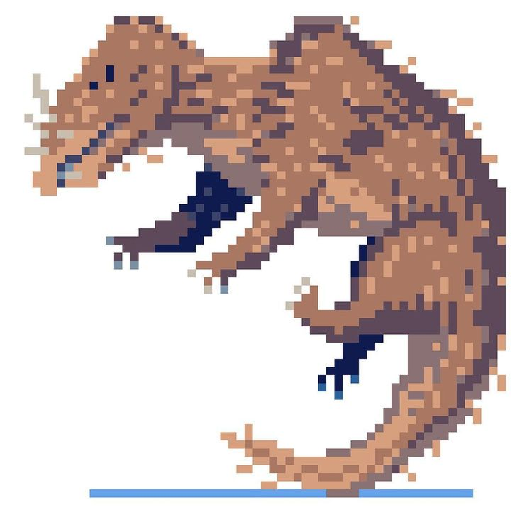 Diademodon — Fossils of the Diademodon tetragonus have more recently been found in deposits of the Rio Seco de la Quebrada Formation in Mendoza Province, Argentina. — #dinovember #2016 #drawdinovember #dino #art #retro #gamedev #jurassic #game #videogame #sprite #gamedev — Daily Pixel Dinosaur