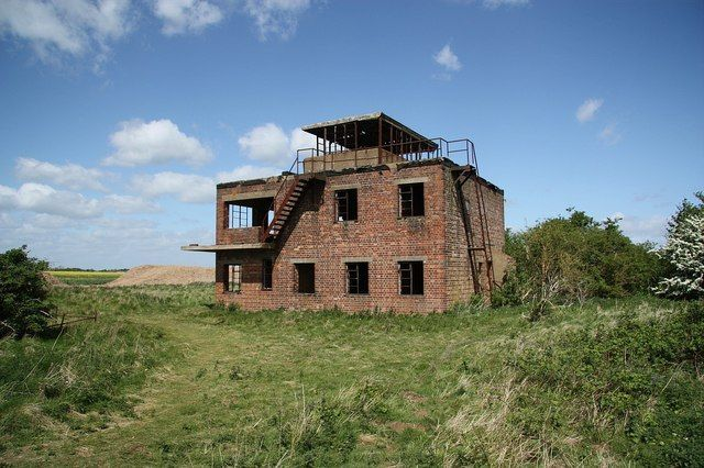 10 Abandoned Control Towers of World War Two's Allied Forces. RAF Coleby Grange, England.