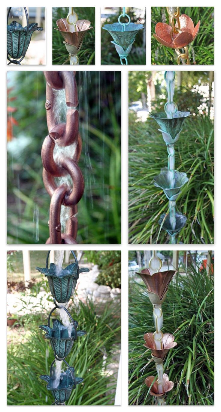 Premium Copper Rain Chains - incredibly beautiful!