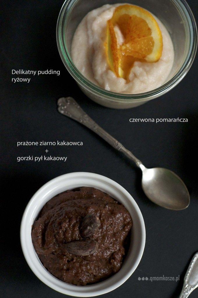 ŚNIADANIE | 2 x pudding ryżowy: z kakaowcem; z czerwoną pomarańczą