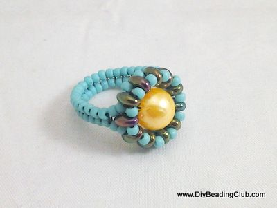 DIY Beading: Beaded Ring Tutorial