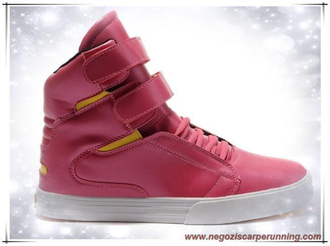 Supra Tk Society High Tops Rosa/Giallo/Bianco Uomo scarpe da calcio online