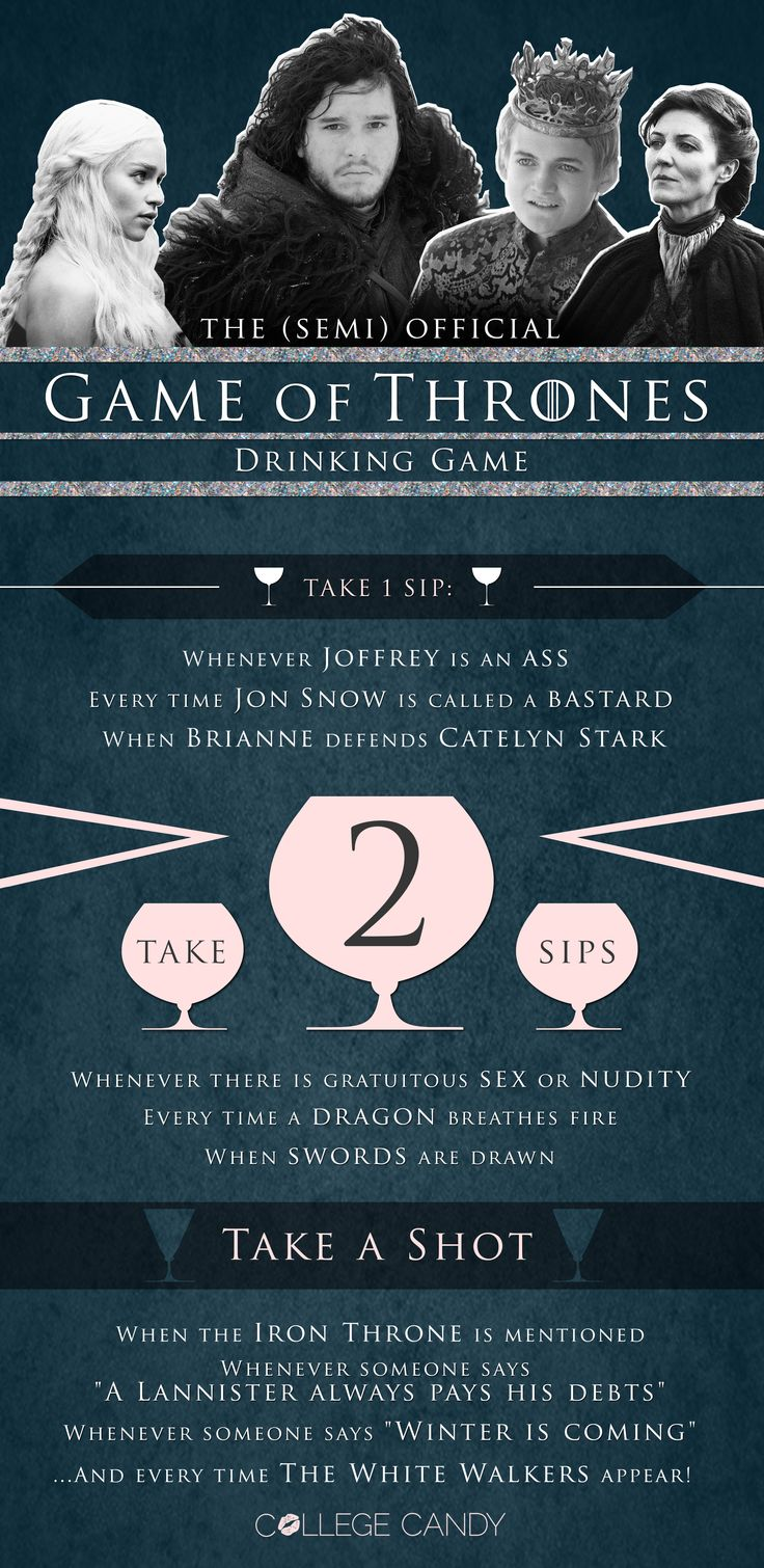 #GOT Game of Thrones Drinking Game!