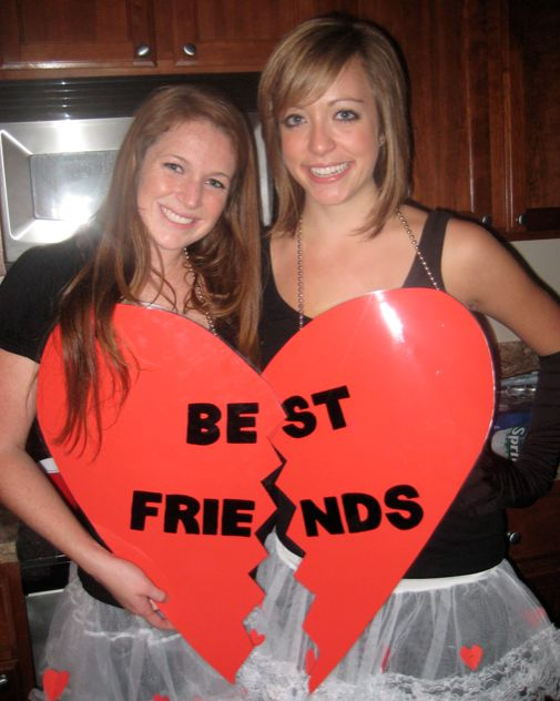 best friend heart costume lauraglinski makes me think of our combo saturday lol - Best Friends Halloween Ideas
