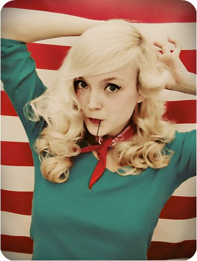 This girl is so cute and has the best Pin-Up style tutorials!