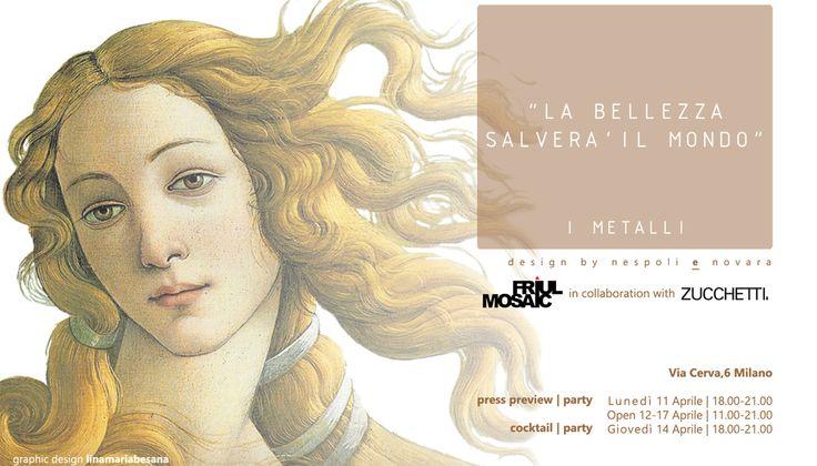 Friul Mosaic with Zucchetti Rubinetteria for a new project I METALLI design nespoli e novara
