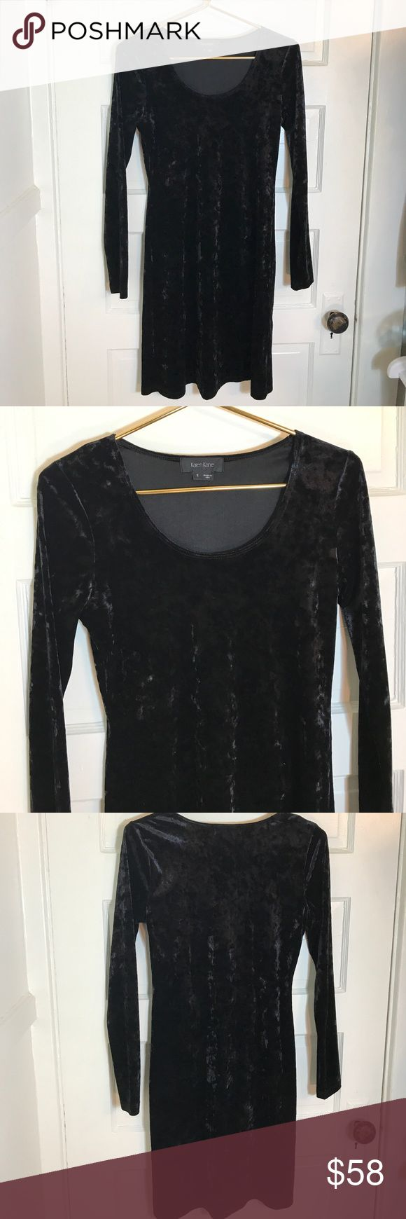 Karen Kane A- line Black velvet dress S Karen Kane black velvet a- line dress in Small. Only worn a couple times. Excellent condition. Karen Kane Dresses