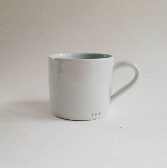 glossy white mug wheelthrown minimalist porcelain cup simple classic coffee mug & 31 best Minimalist Ceramic Dinnerware images on Pinterest ...