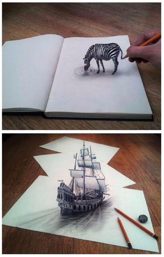 """3D Streetarts en Twitter: """"3D pencil drawing http://t.co/pNRn3TVD1f"""""""