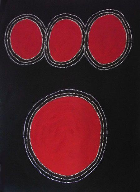 Jalala & Wandjina Cave, by Jack Dale, 2007. Natural earth pigments and acrylic on linen; 205 x 150 cm   Australian aboriginal