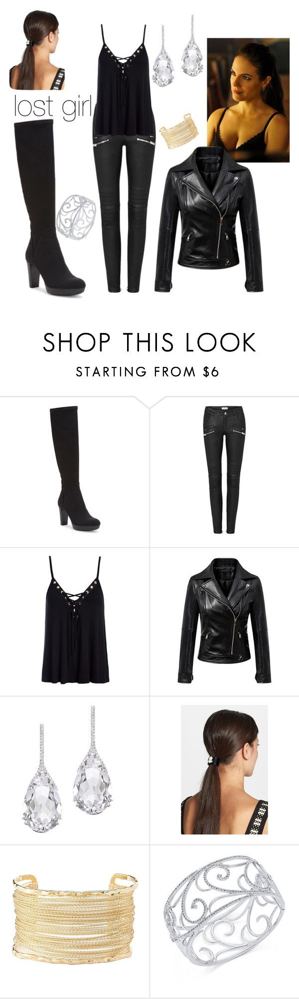 """""""bo from lost girl style"""" by melindamarr ❤ liked on Polyvore featuring Donald J Pliner, Sans Souci, Chicnova Fashion, Plukka, L. Erickson, Charlotte Russe and Eliot Danori"""