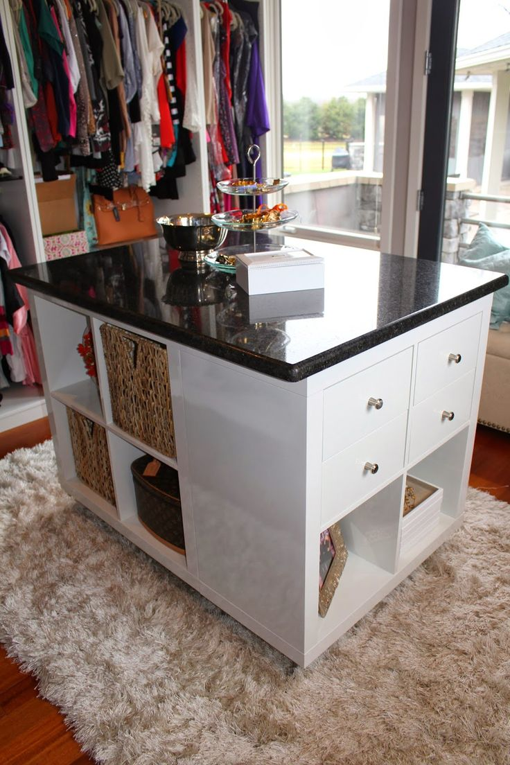 Ikea Hack : Expedit - Closet Island - this would also work as an island in the kitchen