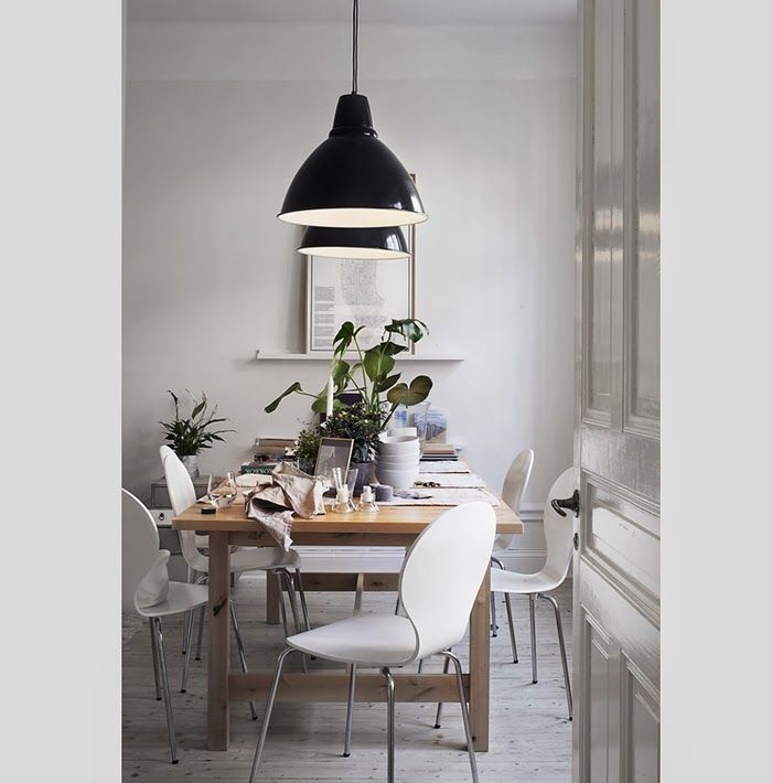 dining room lighting for a more casual look. I also love these type of lights above a kitchen island.