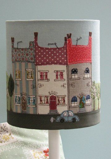 Lampshade appliqués...love!