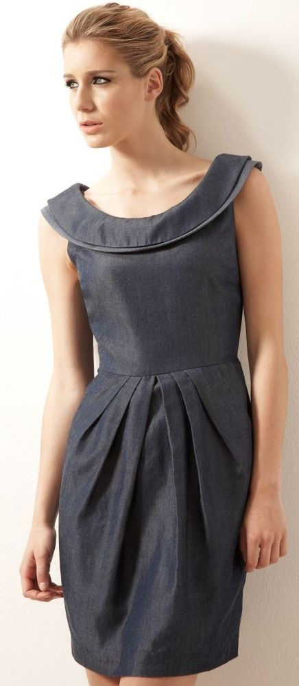 Perfect for spring - organic denim dress from Outsider
