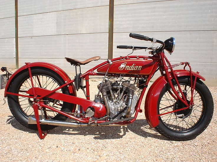 A 1929 Indian 101 Scout, thought to be by many old-timers as the best handling motorcycle ever made.