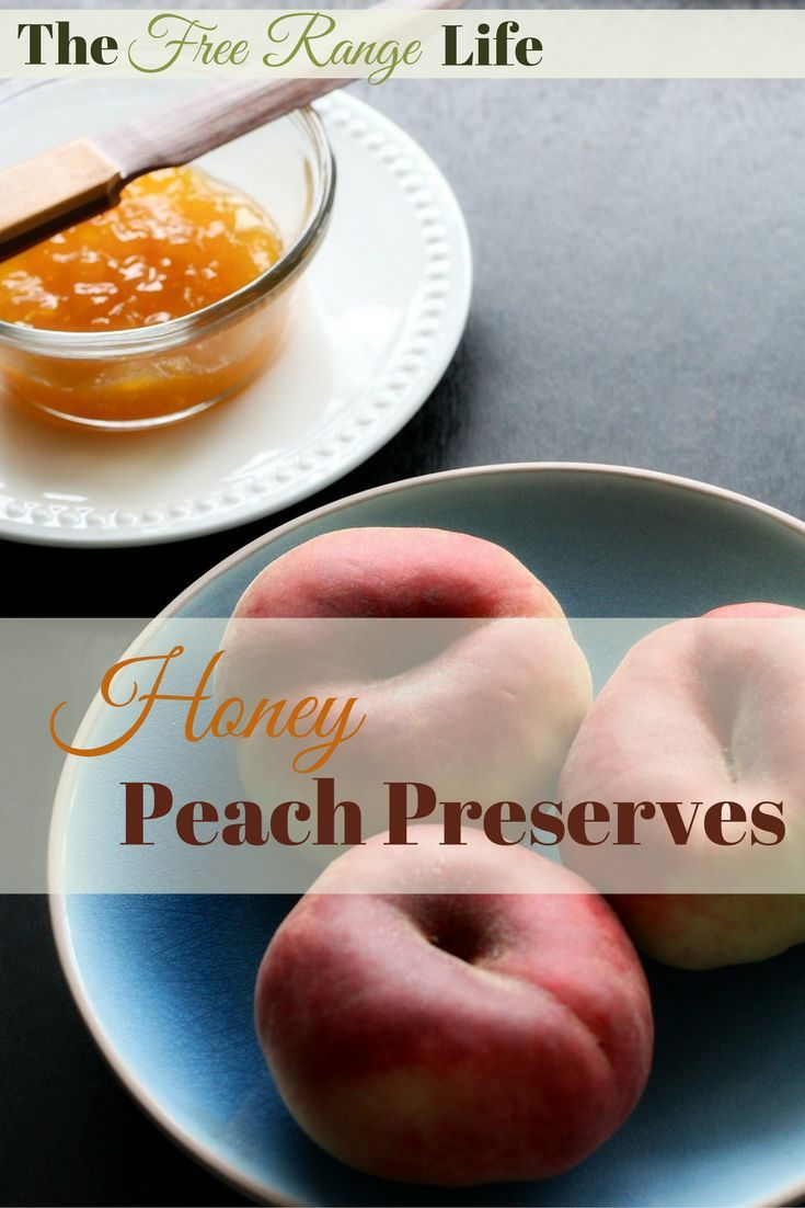Honey Peach Preserves made with fresh picked peaches and sweetened with honey. Amazing on toast, biscuits, and waffles!