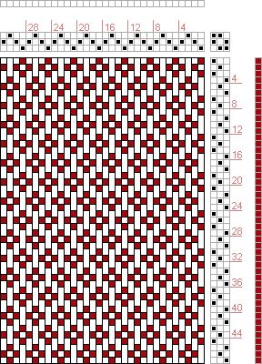 Hand Weaving Draft: Plate 1, Figure 46, Dictionary of Weaves Part I by E.A. Posselt, 3S, 3T - Handweaving.net Hand Weaving and Draft Archive  #weaving  #fibrearts