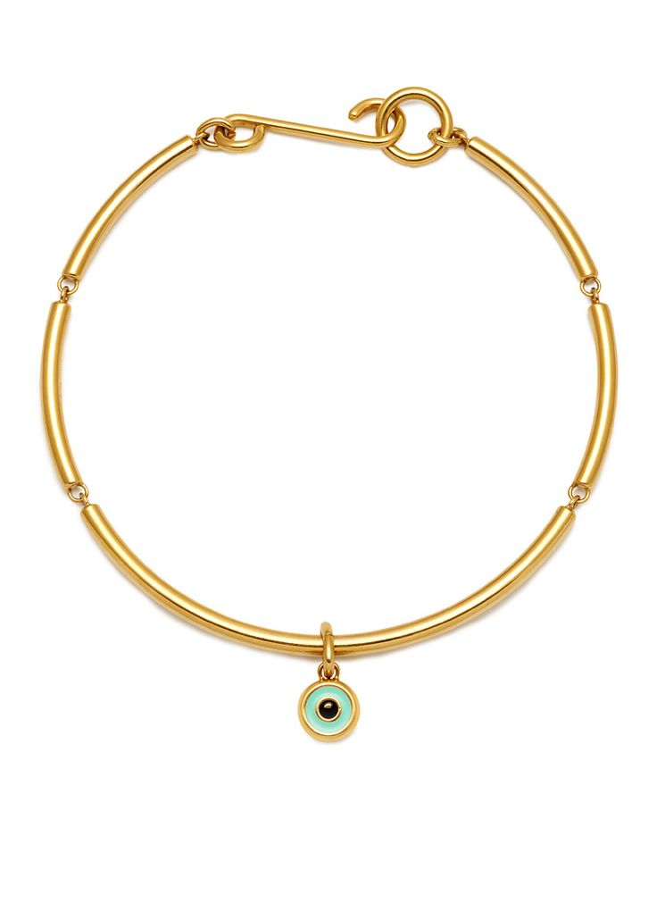 'BEVERLY HILLS DOLLS' CUFF NECKLACE WITH EYE CHARMS