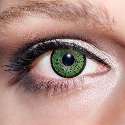 Grüne Kontaktlinsen farbige smaragdgrüne Linsen von KwikSibs, Jadegrüne 2-farbig auch mit Stärken