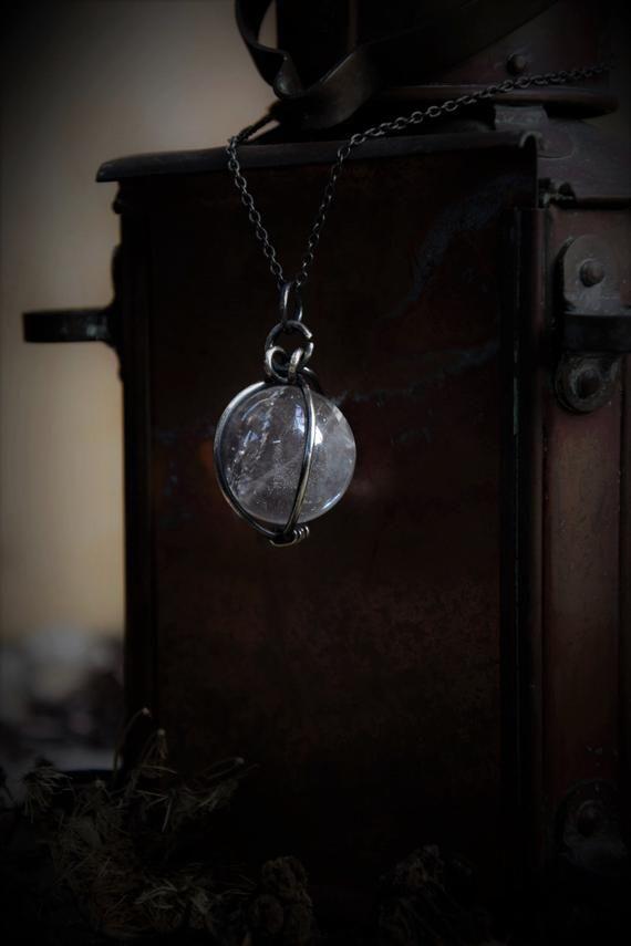 Crystal QUARTZ With Labradorite Stone Necklace \u2022 One Of A Kind \u2022 Electroformed \u2022 Healing Quartz\u2022 Nature Inspired