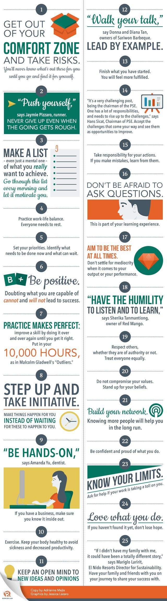 How to Push Yourself Out of Your Comfort Zone - Cool infographic from LifeHack #selfdevelopment #lifecoaching