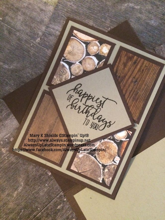 Masculine Birthday Card Always Up Late Stampin