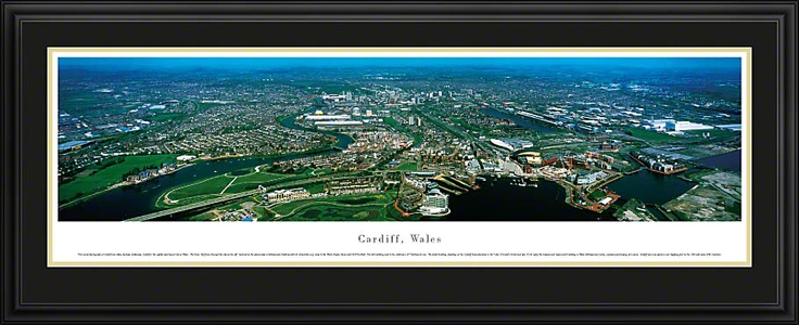 Cardiff, Wales Skyline Picture - Panoramic Picture $199.95