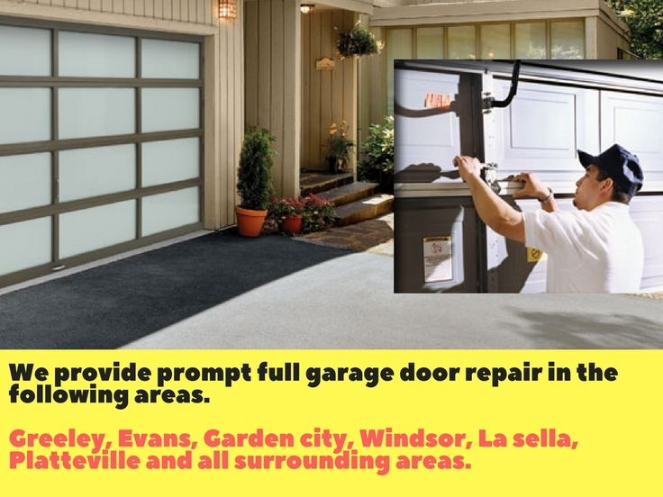 Need Same Day Garage Door Service? Yes Guaranteed or service call is free*!! We provide prompt full garage door repair and installation in the following areas.    Greeley, Evans, Garden city, Windsor, La sella, Platteville and all surrounding areas    For a free quote call (970) 673-0951 or visit on www.greeleygaragedoorrepair.com