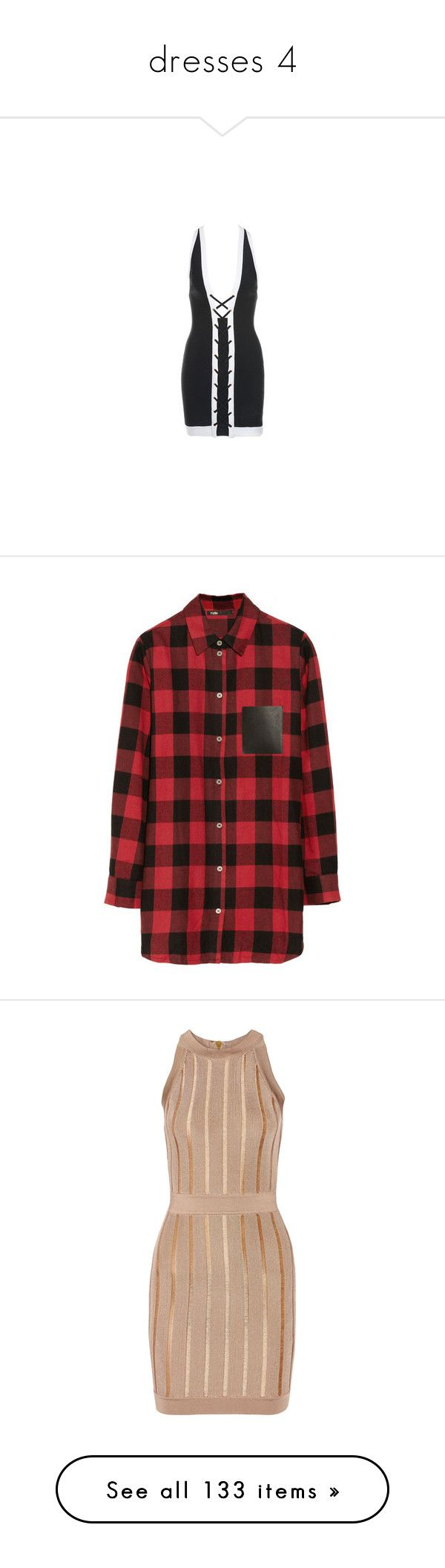 """""""dresses 4"""" by efiaeemnxo ❤ liked on Polyvore featuring dresses, tops, shirts, cotton shirts, red plaid top, sexy shirts, red cotton shirt, red shirt, vestidos and balmain"""