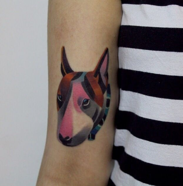 English Bull Terrier Tattoo image                                                                                                                                                                                 Más