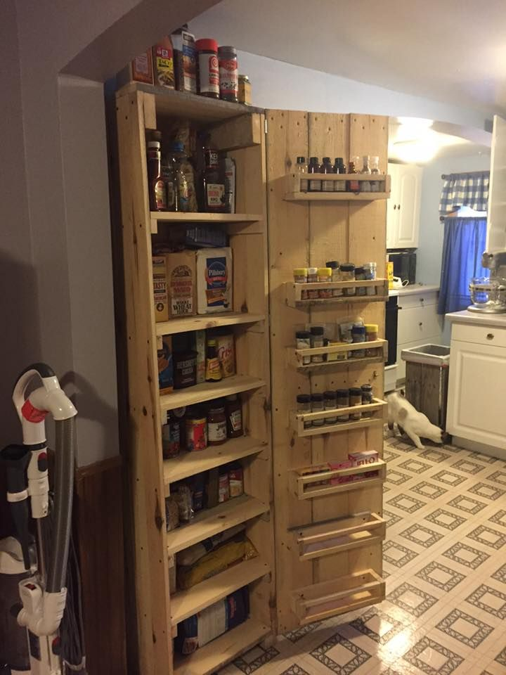 this cabinet may the item you are looking for your kitchen storage needs! -- Pallet #Kitchen Storage Unit / Kitchen #Hutch - 150+ Wonderful Pallet Furniture Ideas | 101 Pallet Ideas - Part 8