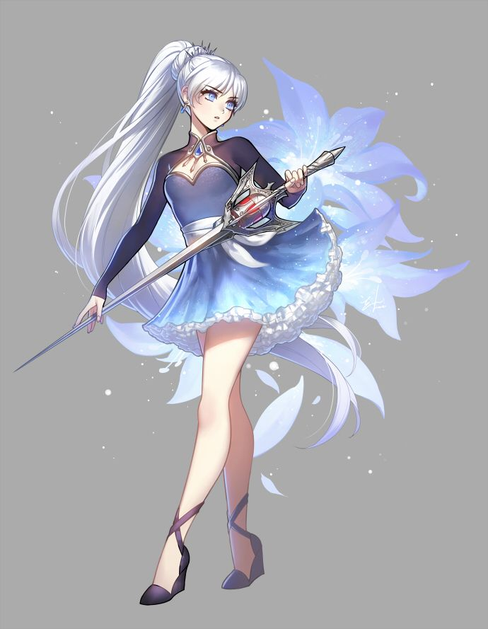 Artwork for RWBY Volume 4. This time around, Weiss is looking more elegant but a tad more sombre as she matures and pursues her own path. I've always loved the bolero look. It's probably not obviou...