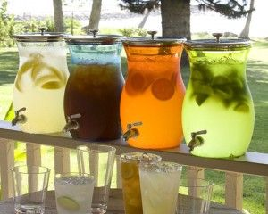 distributeur d'eau: Ideas, Drinks Stations, S'Mores Bar, Summer Parties, Beverages, Sweets Teas, Iced Tea, Ice Teas, Drink Stations