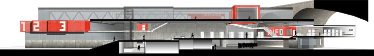 Cross Section // Musical And Cultural Center in Basel - L3 - Ensas_2014