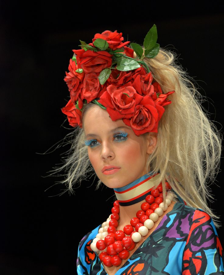 Bettjemans high cascading ponytails for Trelise Cooper's Theatre of Fashion 2016