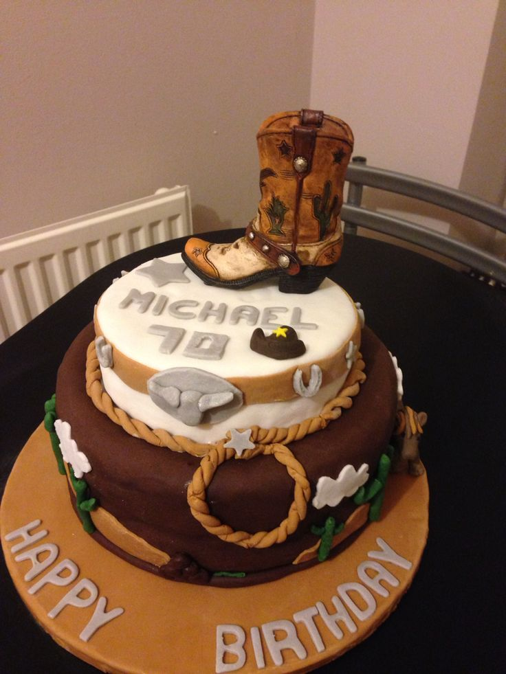 Cowboy Birthday Cake Cakes In 2019 Western Birthday