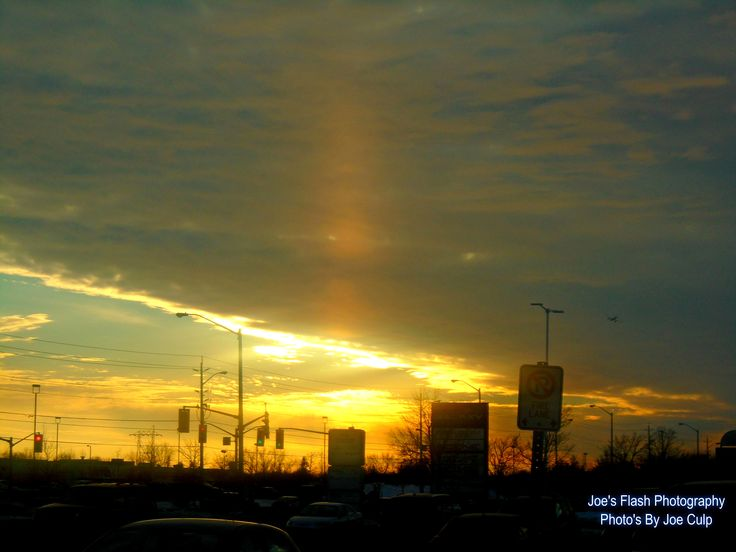 Paradox Sunset over Belleville Ontario January 7, 2015