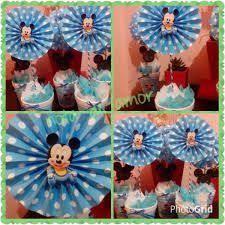 Resultado de imagen para mickey bebe cumpleaños decoracion