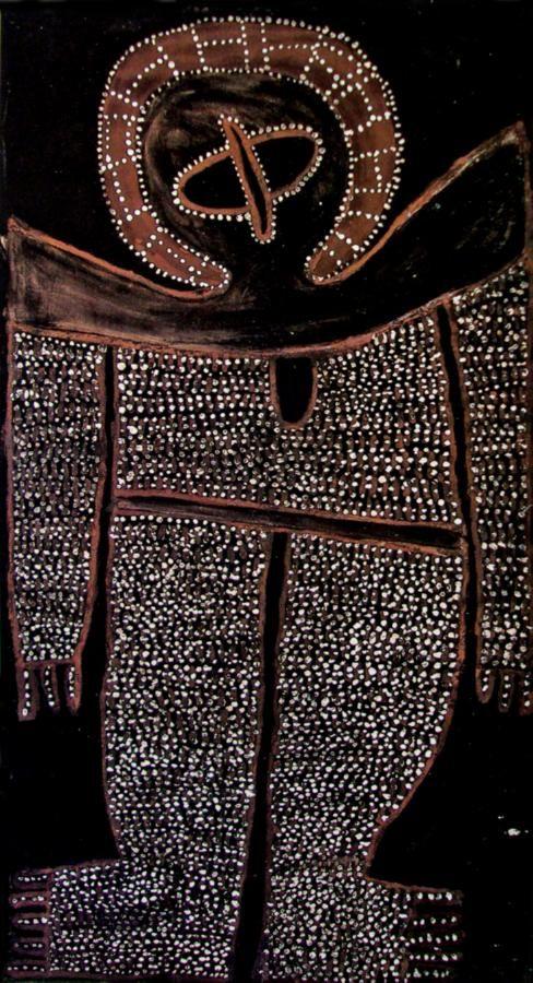 Wandjina 1980 - Alec Mingelmanganu (c1905-1981) Australia (Aboriginal)