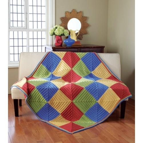 Harlequin Throw by Mary Maxim: Knits Crochet, Crochet Afghans, Quilts Afghans, Throw Knits, Knits Kits, Design Harlequin, Mary Maxim, Knits Stuff, Harlequin Throw