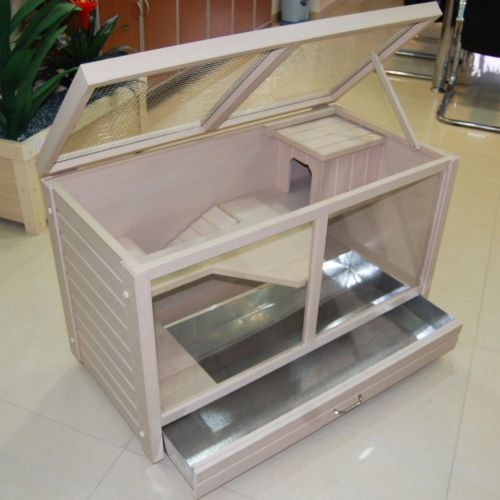 Rabbit-Hutch-Indoor-Small-Animal-Cage-House-Habitat-Mouse-Guinea-Pig-Pet-Shelter