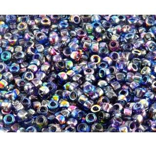 MATUBO 7/0 Czech Glass Seed Beads Magic Blue-Pink