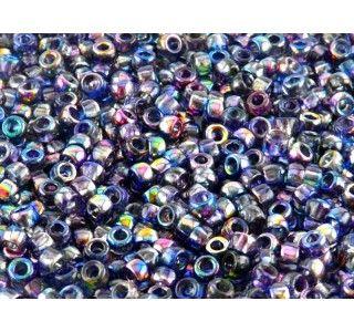 MATUBO 7/0 Czech Glass Seed Beads Magic Blue-Pink