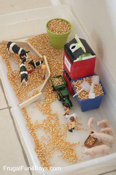 Farm Sensory Play for Preschoolers