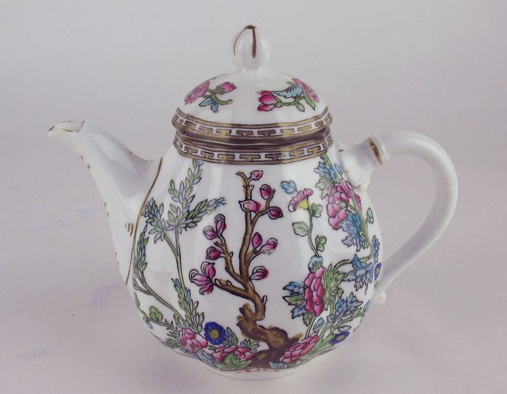 2 Cup Teapot Coalport Indian Tree Vintage England Multicolored  | eBay